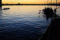 /images/133/2008-10-28-tempe-night-41145.jpg - #05977: Scullers after sunset at North Bank Boat Ramp at Tempe Town Lake … October 2008 -- Tempe Town Lake, Tempe, Arizona