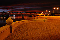 /images/133/2008-11-12-tempe-beach-46415.jpg - #06026: Sunset on North Bank Boat Beach at Tempe Town Lake … November 2008 -- Tempe Town Lake, Tempe, Arizona