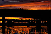 /images/133/2008-11-12-tempe-bridge-46264.jpg - #06028: Runner at sunset on Mill Road bridge over Tempe Town Lake … November 2008 -- Tempe Town Lake, Tempe, Arizona