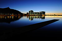 /images/133/2008-11-16-tempe-lake-48734.jpg - #06096: Night reflection at North Bank Boat Ramp at Tempe Town Lake … November 2008 -- Tempe Town Lake, Tempe, Arizona