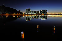 /images/133/2008-11-16-tempe-lake-48760.jpg - #06098: Night reflection by North Bank Boat Ramp at Tempe Town Lake … November 2008 -- Tempe Town Lake, Tempe, Arizona