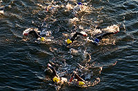 /images/133/2008-11-23-ironman-swim_9-52636.jpg - #06220: 0:42:24 - KIERAN DOE #30 leading #5 and ANDREAS RAELERT #9 (middle) - Swim Pros … November 2008 -- Tempe Town Lake, Tempe, Arizona