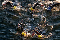 /images/133/2008-11-23-ironman-swim_9-52636c.jpg - #06221: 0:42:24 - KIERAN DOE #30 leading #5 and ANDREAS RAELERT #9 (middle) - Swim Pros … November 2008 -- Tempe Town Lake, Tempe, Arizona