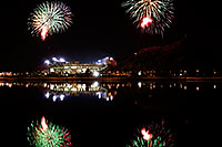 /images/133/2008-11-28-tempe-fireworks-56740.jpg - #06244: ASU football fireworks over Tempe Town Lake … November 2008 -- Tempe Town Lake, Tempe, Arizona