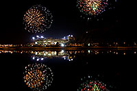 /images/133/2008-11-28-tempe-fireworks-56805.jpg - #06249: ASU football fireworks over Tempe Town Lake … November 2008 -- Tempe Town Lake, Tempe, Arizona