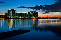 /images/133/2008-11-28-tempe-sunset-56632.jpg - #06308: Sunset at North Bank Boat Ramp at Tempe Town Lake … November 2008 -- Tempe Town Lake, Tempe, Arizona