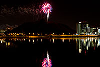 /images/133/2008-11-29-tempe-fireworks-57891.jpg - #06316: APS Fantasy of Lights opening night fireworks over Tempe Town Lake … November 2008 -- Tempe Town Lake, Tempe, Arizona