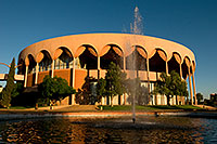 /images/133/2008-11-30-asu-fountain-58205.jpg - #06275: Gammage Auditorium at ASU … November 2008 -- Arizona State University, Tempe, Arizona
