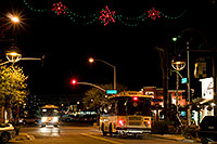 /images/133/2008-12-01-scotts-night-58713.jpg - #06352: Trolley busses at night at Scottsdale Road and Main St … December 2008 -- Scottsdale, Arizona
