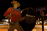 /images/133/2008-12-01-scotts-night-58746.jpg - #06304: Welcome to Old Town Scottsdale - intersection of Scottsdale Road and Main … December 2008 -- Scottsdale, Arizona