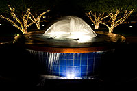 /images/133/2008-12-06-phoenix-fountain-60513.jpg - #06418: Fountain in a park by Arizona Center at night in Phoenix … December 2008 -- Phoenix, Arizona