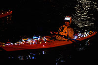 /images/133/2008-12-13-tempe-lights-boats-63647.jpg - #06495: Desert Padlers on kayaks - APS Fantasy of Lights Boat Parade … December 2008 -- Tempe Town Lake, Tempe, Arizona