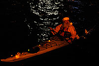 /images/133/2008-12-13-tempe-lights-boats-63656.jpg - #06496: Santa Claus and Desert Padlers on kayaks - APS Fantasy of Lights Boat Parade … December 2008 -- Tempe Town Lake, Tempe, Arizona