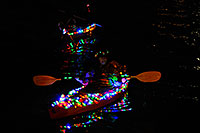 /images/133/2008-12-13-tempe-lights-boats-63666.jpg - #06446: Desert Padlers on kayaks - APS Fantasy of Lights Boat Parade … December 2008 -- Tempe Town Lake, Tempe, Arizona