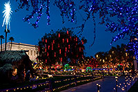 /images/133/2008-12-20-mesa-temple-morning-65051.jpg - #06555: Christmas Lights by Mesa Arizona Temple … December 2008 -- Mesa Arizona Temple, Mesa, Arizona