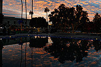 /images/133/2008-12-23-mesa-temple-sunset-66745.jpg - #06577: Reflection of Visitors Center at Mesa Arizona Temple … December 2008 -- Mesa Arizona Temple, Mesa, Arizona