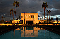 /images/133/2008-12-25-mesa-temple-west-66847.jpg - #06607: Reflection from west side of Mesa Arizona Temple … December 2008 -- Mesa Arizona Temple, Mesa, Arizona