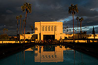 /images/133/2008-12-25-mesa-temple-west-66862.jpg - #06609: Reflection from west side of Mesa Arizona Temple … December 2008 -- Mesa Arizona Temple, Mesa, Arizona