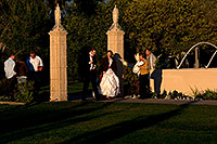 /images/133/2008-12-26-mesa-temple-brides-67650.jpg - #06620: Bride and Groom at West side of Mesa Arizona Temple … December 2008 -- Mesa Arizona Temple, Mesa, Arizona