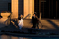 /images/133/2008-12-26-mesa-temple-brides-67701.jpg - #06623: Bride and Groom at West side of Mesa Arizona Temple … December 2008 -- Mesa Arizona Temple, Mesa, Arizona