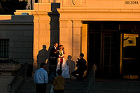 /images/133/2008-12-26-mesa-temple-brides-67719.jpg - #06624: Bride and Groom at West side of Mesa Arizona Temple … December 2008 -- Mesa Arizona Temple, Mesa, Arizona
