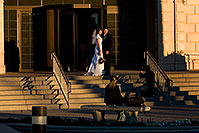 /images/133/2008-12-29-mesa-temple-brides-69074.jpg - #06674: Bride and Groom at West side of Mesa Arizona Temple … December 2008 -- Mesa Arizona Temple, Mesa, Arizona