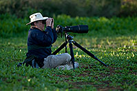 /images/133/2009-01-26-gilb-rip-photog-80971.jpg - #07102: Bird Photography requirements - big lens, low tripod, binoculars, hat, water bottle…(br)Photographer at Riparian Preserve … January 2009 -- Riparian Preserve, Gilbert, Arizona