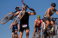 /images/133/2009-10-11-pbr-off-tri-bike-115547.jpg - #07558: 01:03:37 mountain bikers dismounting or not at a steep downhill - PBR Offroad Triathlon, Oct 11, 2009 … October 2009 -- Papago Park, Tempe, Arizona