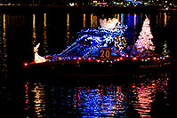 /images/133/2009-12-12-tempe-aps-lights-128264.jpg - #08027: Boat #20 at APS Fantasy of Lights Boat Parade … December 2009 -- Tempe Town Lake, Tempe, Arizona