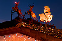 /images/133/2009-12-31-chandler-santa-131268.jpg - #08085: Rudolph with red nose and Santa Claus in Chandler … December 2009 -- Chandler, Arizona