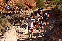 /images/133/2010-06-19-havasu-people-6038.jpg - #08190: Hikers along Havasupai Trail … June 2010 -- Havasupai Trail, Havasu Falls, Arizona