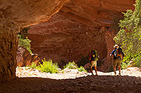 /images/133/2010-06-19-havasu-people-6317.jpg - #08196: Hikers along Havasupai Trail … June 2010 -- Havasupai Trail, Havasu Falls, Arizona