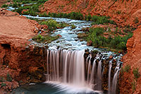 /images/133/2010-06-20-havasu-rock-7385.jpg - #08213: New Navajo Falls … June 2010 -- Rock Falls, Havasu Falls, Arizona