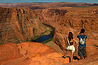 /images/133/2010-07-23-horseshoe-morn-17992.jpg - #08340: People at Horseshoe Bend of the Colorado River … July 2010 -- Horseshoe Bend, Arizona