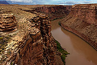 /images/133/2010-08-01-vermilion-bridge-20413.jpg - #08355: View of Colorado River from Navajo Bridge at Marble Canyon … August 2010 -- Navajo Bridge, Marble Canyon, Arizona