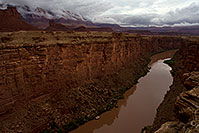 /images/133/2010-08-01-vermilion-bridge-20416.jpg - #08356: View of Colorado River from Navajo Bridge at Marble Canyon … August 2010 -- Navajo Bridge, Marble Canyon, Arizona