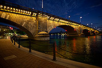/images/133/2010-08-21-havasu-bridge-5d_0852.jpg - #08599: Twilight at the London Bridge at Lake Havasu … August 2010 -- London Bridge, Lake Havasu City, Arizona