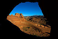 /images/133/2010-09-05-arches-delicate-wind-31615.jpg - #08644: View of Delicate Arch through a window in Arches National Park … September 2010 -- Delicate Arch, Arches Park, Utah