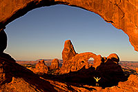 /images/133/2010-09-09-arches-turret-view-32102.jpg - #08672: View of Turret Arch through North Window in Arches National Park … September 2010 -- Turret Arch, Arches Park, Utah