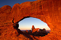 /images/133/2010-09-10-arches-turret-32433.jpg - #08684: View of Turret Arch through North Window in Arches National Park … September 2010 -- Turret Arch, Arches Park, Utah