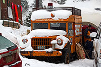 /images/133/2011-01-09-ouray-cars-48079.jpg - #09030: Ouray Mountain Rescue truck by Ouray … January 2011 -- Ouray, Colorado