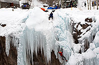 /images/133/2011-01-09-ouray-climbers-48434.jpg - #09133: Ice climbing by Ouray … January 2011 -- Ouray, Colorado