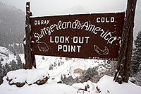 /images/133/2011-01-09-ouray-sign-48990.jpg - #09155: Ouray, Colorado - Switzerland of America - Lookout Point … January 2011 -- Ouray, Colorado