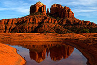 /images/133/2011-03-13-sedona-waterholes-57422.jpg - #09171: Cathedral Rock in Sedona … March 2011 -- Cathedral Rock, Sedona, Arizona
