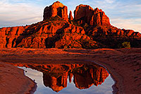/images/133/2011-03-13-sedona-waterholes-57458.jpg - #09173: Cathedral Rock in Sedona … March 2011 -- Cathedral Rock, Sedona, Arizona