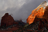 /images/133/2011-03-22-sedona-snowy-61715.jpg - #09198: Morning in Sedona … March 2011 -- Schnebly Hill, Sedona, Arizona