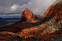 /images/133/2011-03-22-sedona-snowy-61780.jpg - #09199: Morning in Sedona … March 2011 -- Schnebly Hill, Sedona, Arizona