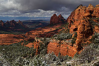 /images/133/2011-03-22-sedona-snowy-61886.jpg - #09201: Morning in Sedona … March 2011 -- Schnebly Hill, Sedona, Arizona