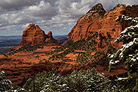 /images/133/2011-03-22-sedona-snowy-61950.jpg - #09203: Morning in Sedona … March 2011 -- Schnebly Hill, Sedona, Arizona