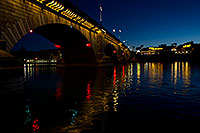 /images/133/2011-04-01-havasu-bridge-night-65536.jpg - #09182: Night at London Bridge in Lake Havasu City … April 2011 -- London Bridge, Lake Havasu City, Arizona